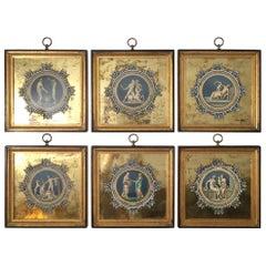 Set of 6 Framed Engravings with Églomisé Matting