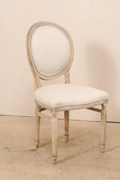 A set of 6 Louis XVI style American oval-back side chairs