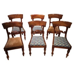 Set of 6 Mahogany Early Victorian Period Dining Chairs