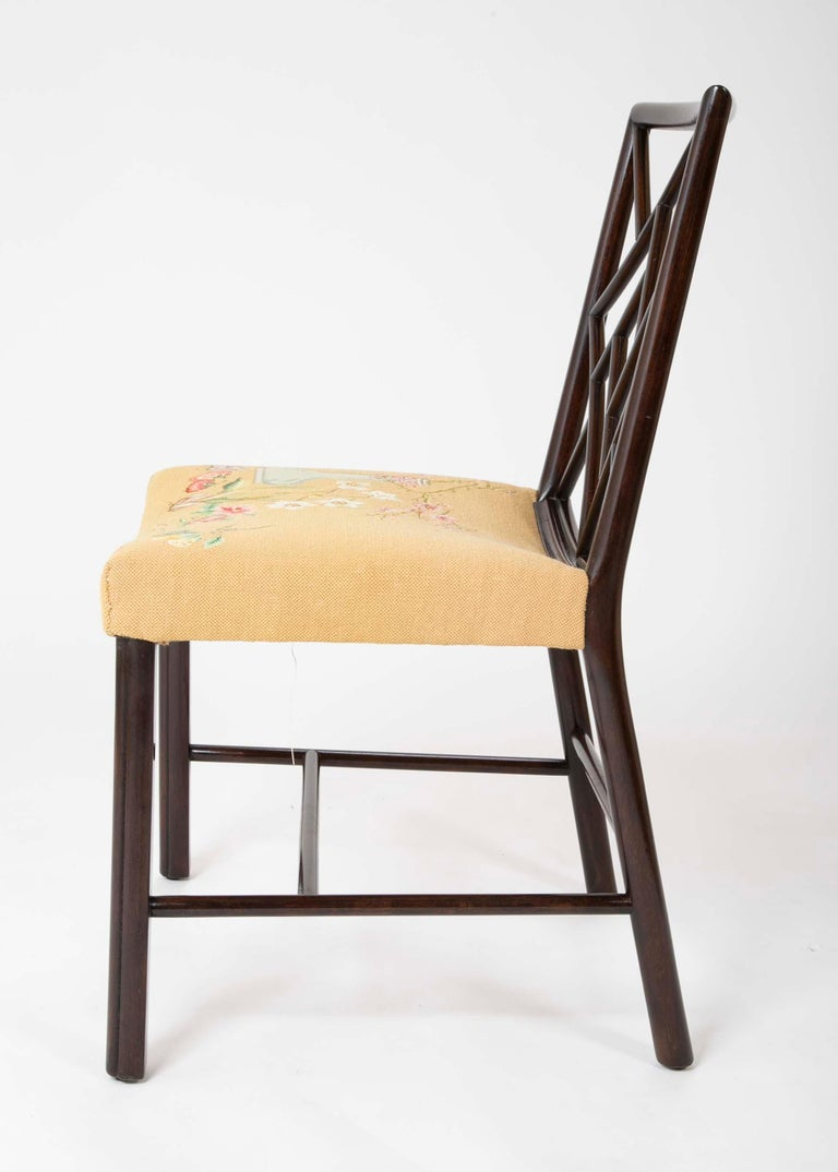 Set of 8 Chippendale Style Dining Chairs For Sale 7