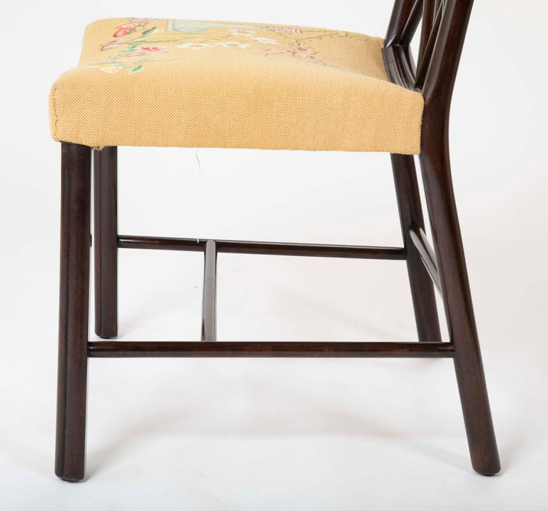 Set of 8 Chippendale Style Dining Chairs For Sale 8
