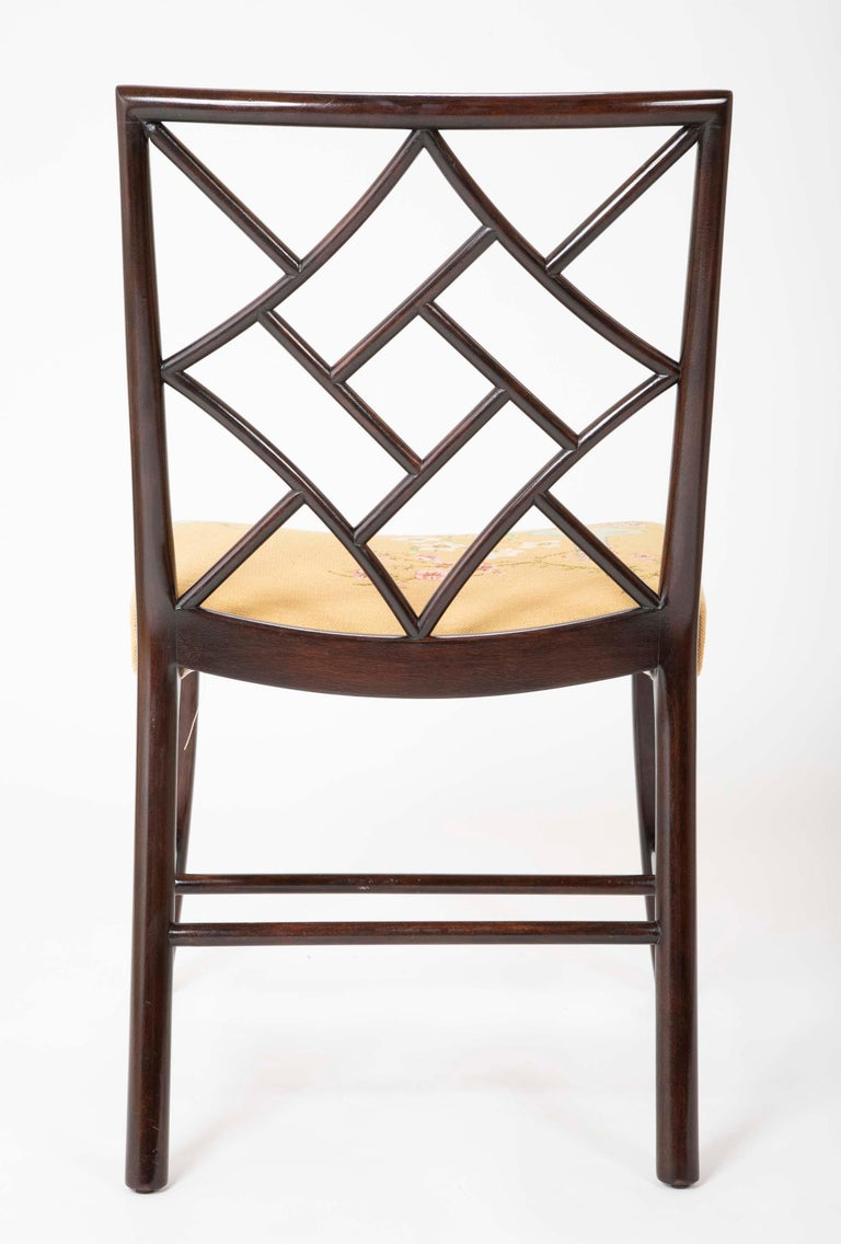 Set of 8 Chippendale Style Dining Chairs For Sale 9
