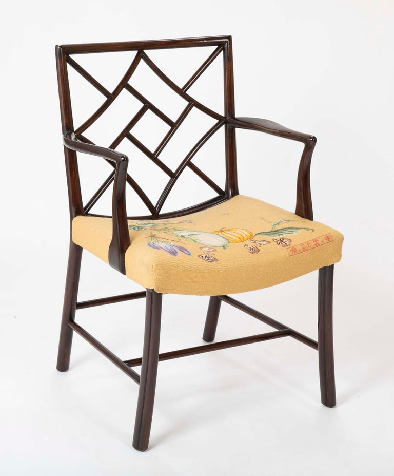 Set of 8 Chippendale Style Dining Chairs For Sale 10