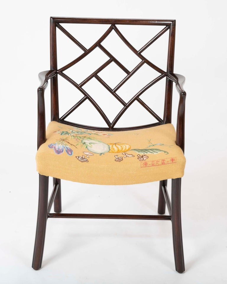 Set of 8 Chippendale Style Dining Chairs For Sale 11