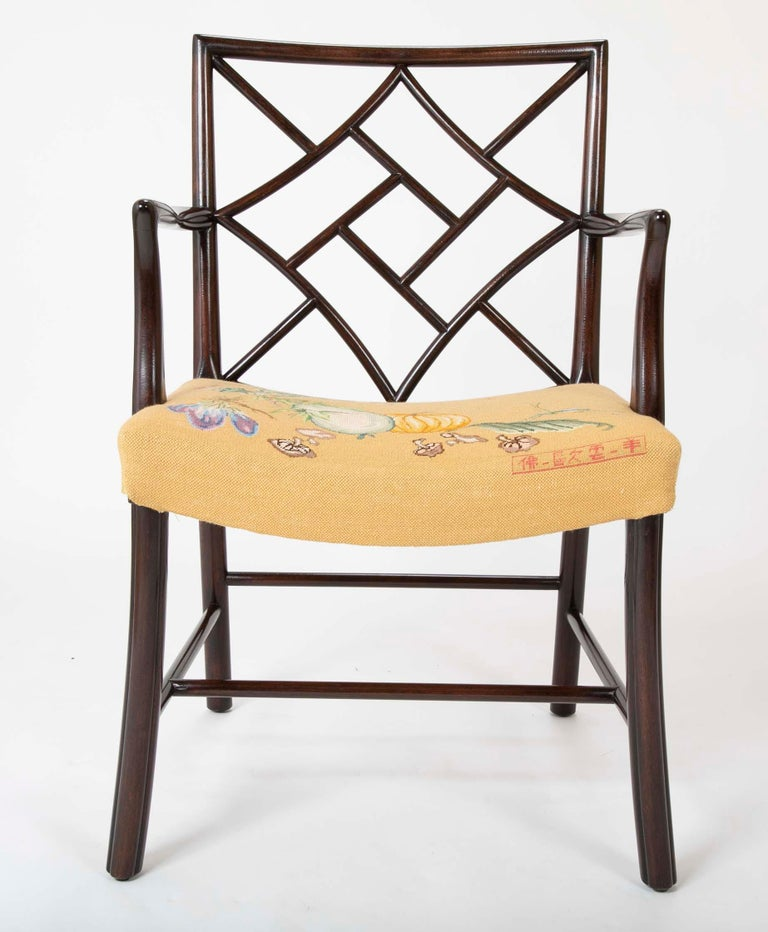 Set of 8 Chippendale Style Dining Chairs For Sale 12