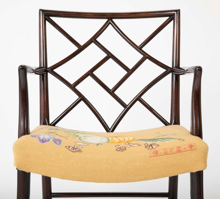 Set of 8 Chippendale Style Dining Chairs For Sale 14