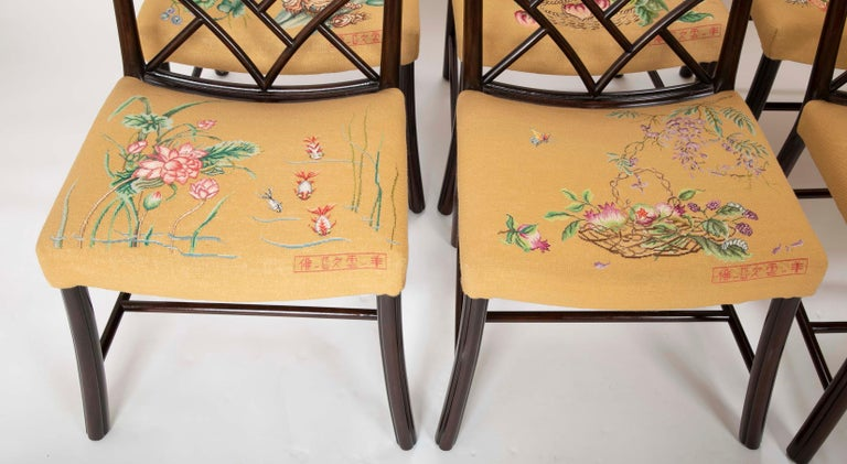 Set of 8 Chippendale Style Dining Chairs In Good Condition For Sale In Stamford, CT