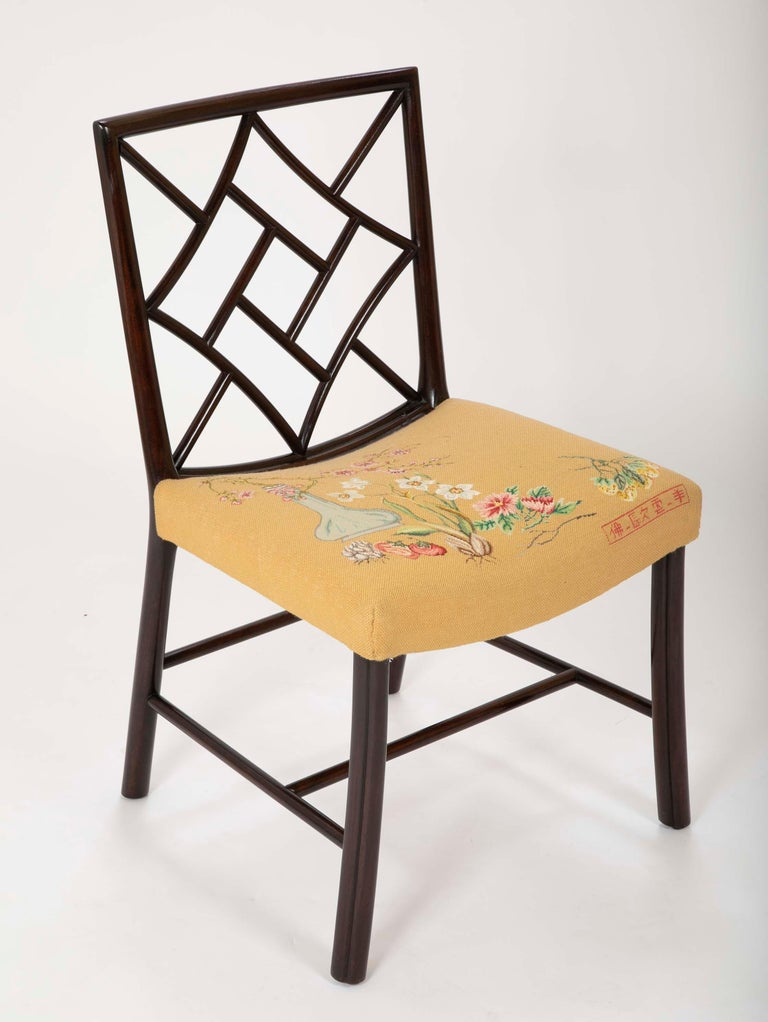 Set of 8 Chippendale Style Dining Chairs For Sale 1