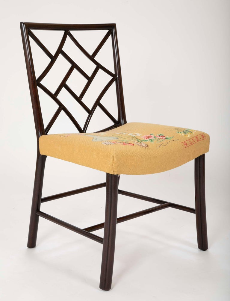 Set of 8 Chippendale Style Dining Chairs For Sale 2