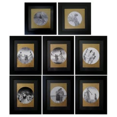 Set of 8 Drawing, Framed