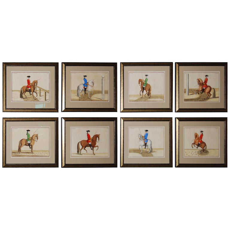 Set of 8 Eisenberg Horses For Sale