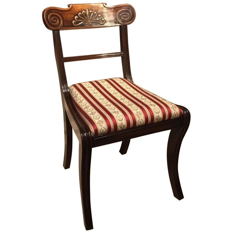 A Set of 8 English Regency Mahogany Dining Chairs For Sale