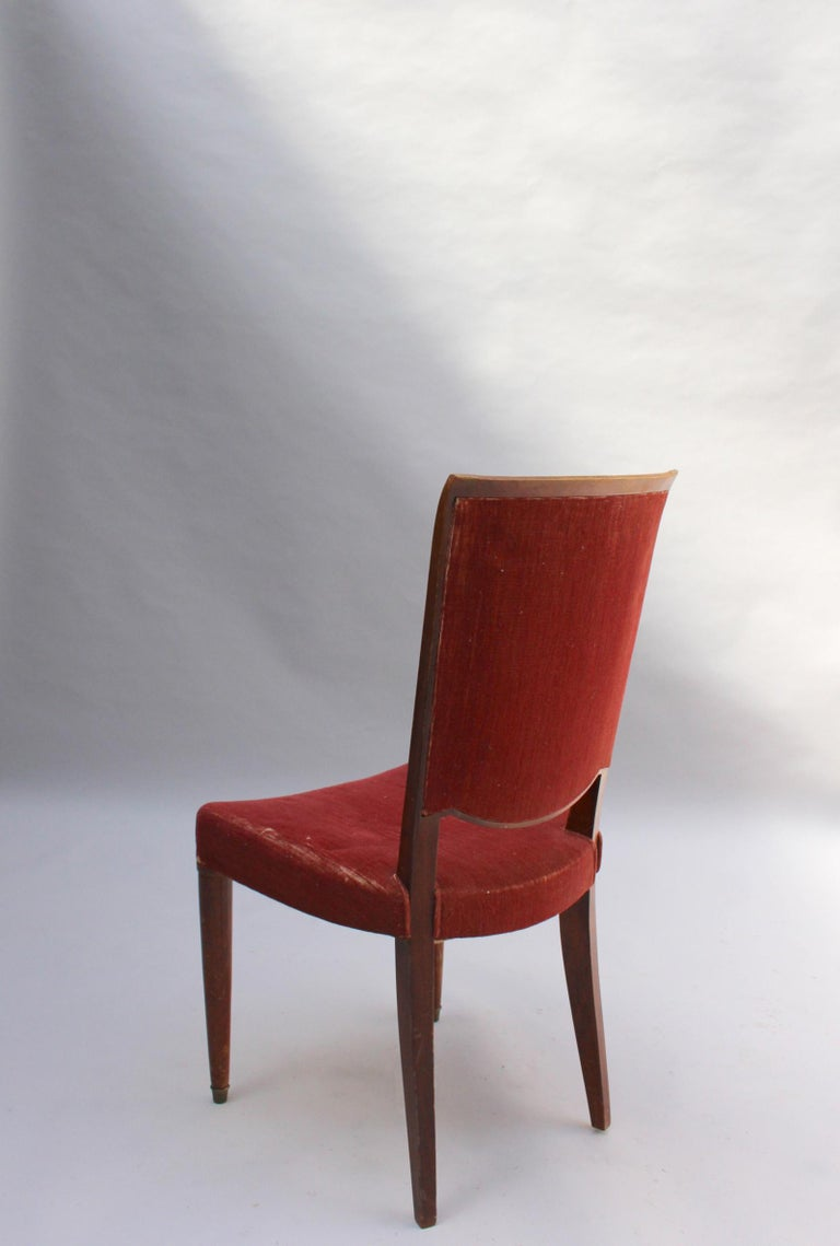 Set of 8 Fine French Art Deco Dining Chairs by Jules Leleu For Sale 7