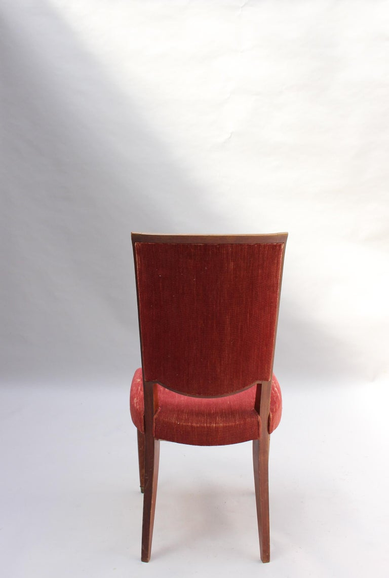Set of 8 Fine French Art Deco Dining Chairs by Jules Leleu For Sale 9