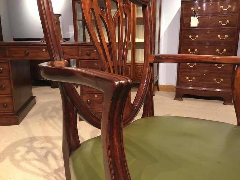 Set of 8 Georgian Mahogany Dining Chairs For Sale 8