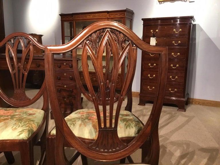 George III Set of 8 Georgian Mahogany Dining Chairs For Sale