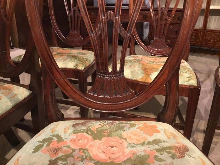 Set of 8 Georgian Mahogany Dining Chairs For Sale 2