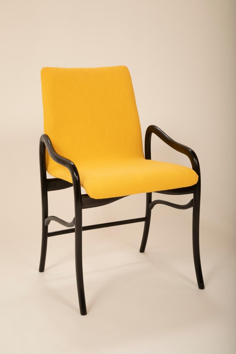 Modern Set of 8 Sculptural Italian Dining Chairs Attributed to Malatesta & Mason For Sale