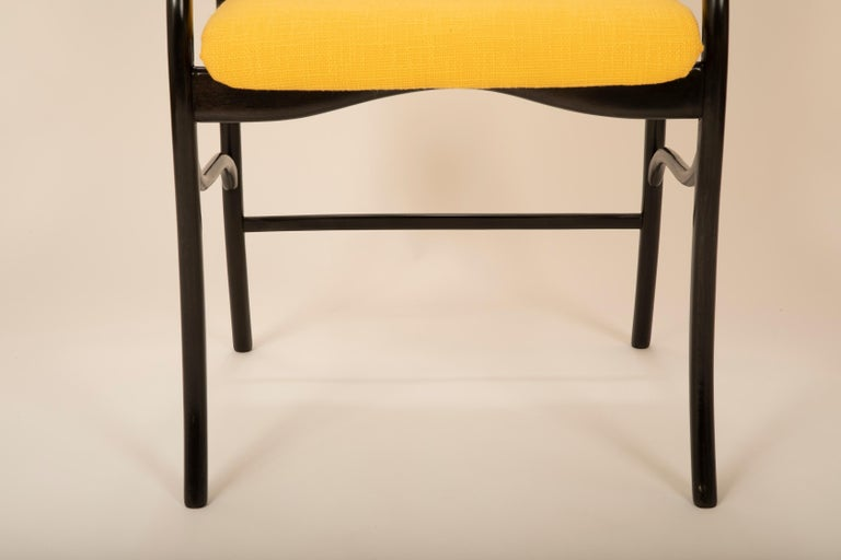 Set of 8 Sculptural Italian Dining Chairs Attributed to Malatesta & Mason For Sale 1