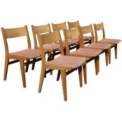 Set of 8 Very Rare Hans Wegner Chairs Model GE- 376, Made by GETAMA, Denmark