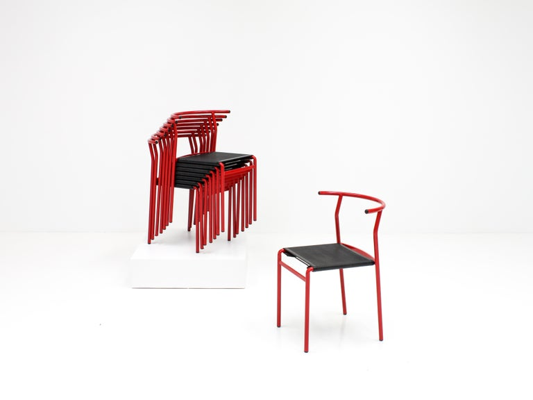 Set of 8 Philippe Starck Cafè Chairs for Baleri Italia, 1984 For Sale 4