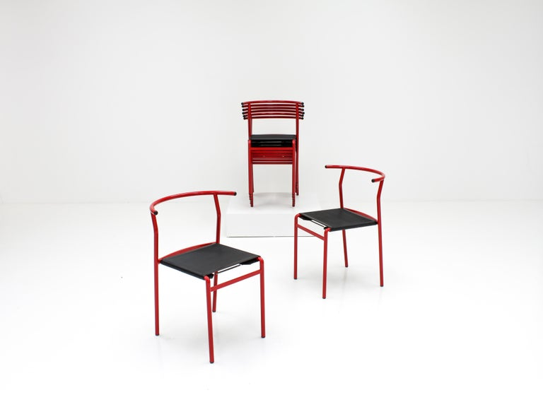 Set of 8 Philippe Starck Cafè Chairs for Baleri Italia, 1984 For Sale 5