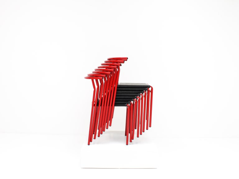 Set of 8 Philippe Starck Cafè Chairs for Baleri Italia, 1984 For Sale 7