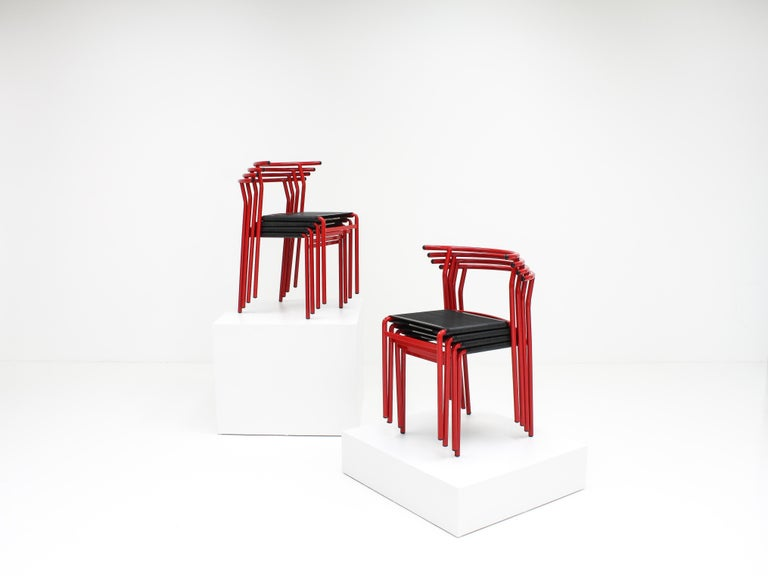 French Set of 8 Philippe Starck Cafè Chairs for Baleri Italia, 1984 For Sale