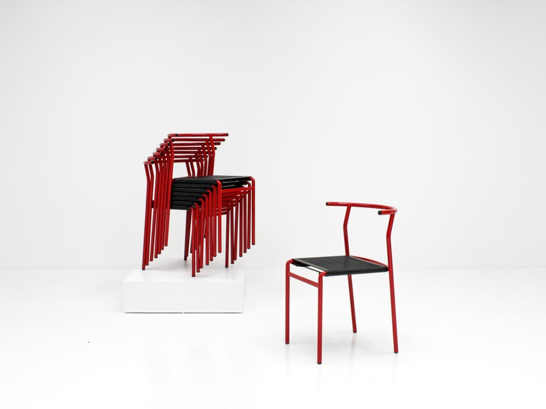 Set of 8 Philippe Starck Cafè Chairs for Baleri Italia, 1984 In Good Condition For Sale In London Road, Baldock, Hertfordshire