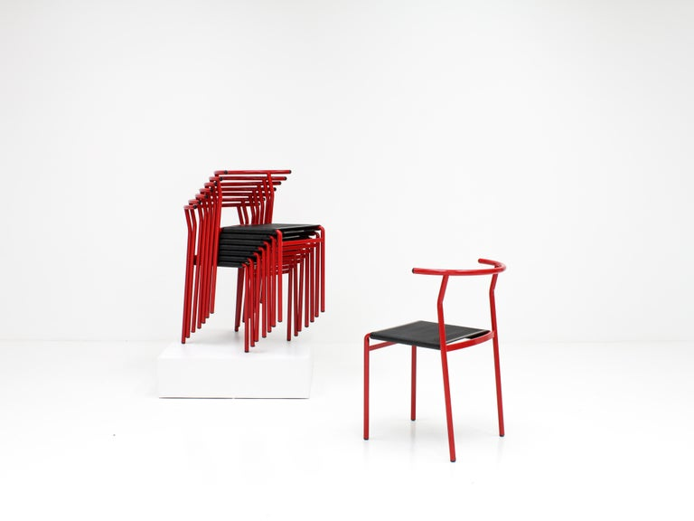 20th Century Set of 8 Philippe Starck Cafè Chairs for Baleri Italia, 1984 For Sale