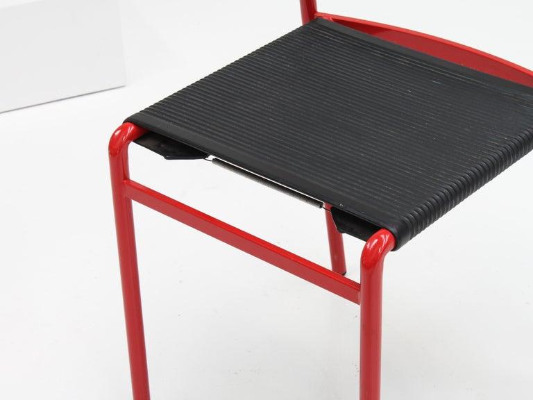 Latex Set of 8 Philippe Starck Cafè Chairs for Baleri Italia, 1984 For Sale