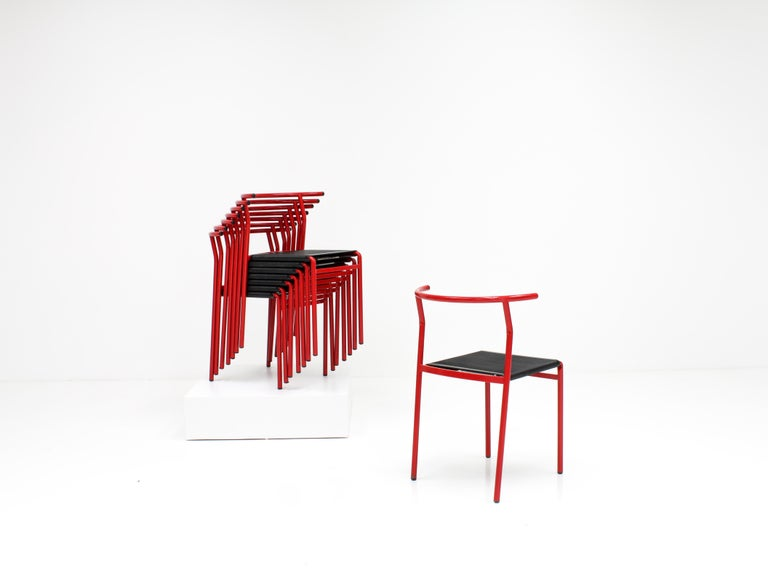 Set of 8 Philippe Starck Cafè Chairs for Baleri Italia, 1984 For Sale 1