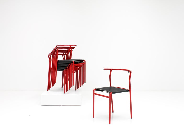 Set of 8 Philippe Starck Cafè Chairs for Baleri Italia, 1984 For Sale 2
