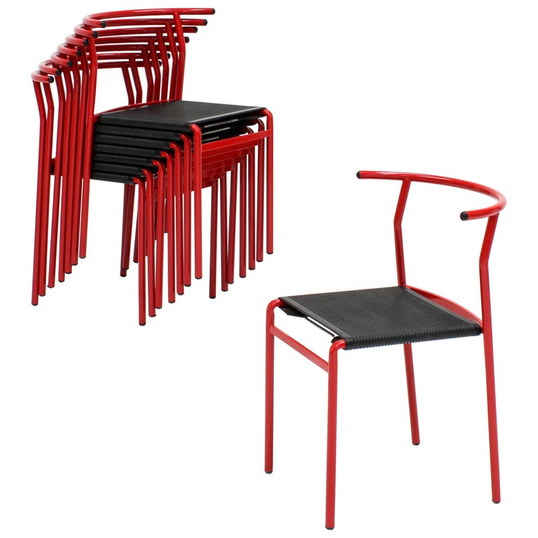 Set of 8 Philippe Starck Cafè Chairs for Baleri Italia, 1984 For Sale