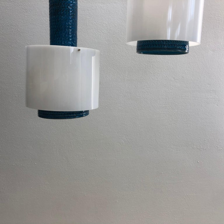 Modernist Set of Danish Kähler Lamps from the 1960s For Sale