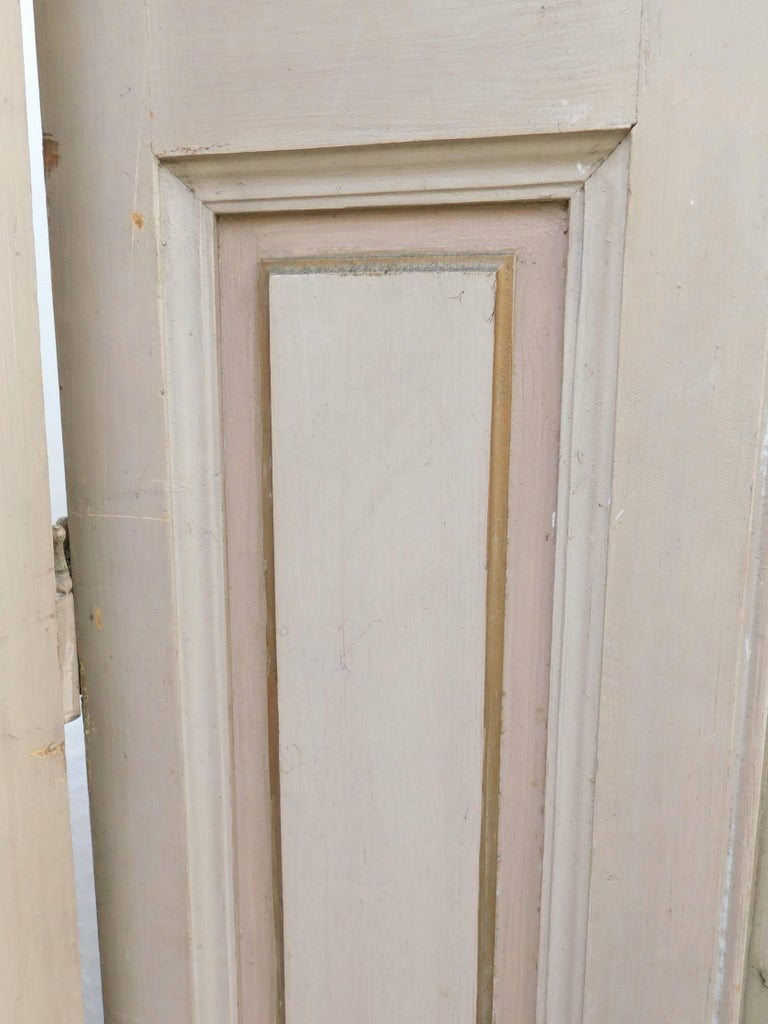 french doors with shutters. Early 19th Century French Door Shutters Retaining The Original Soft Beige, Light Salmon And Gold Doors With