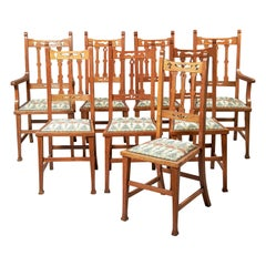 Set of Eight Early 20th Century Arts & Crafts Dining Chairs