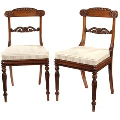 Set of Eleven Early 19th Century Regency Rosewood Carved Dining Chairs