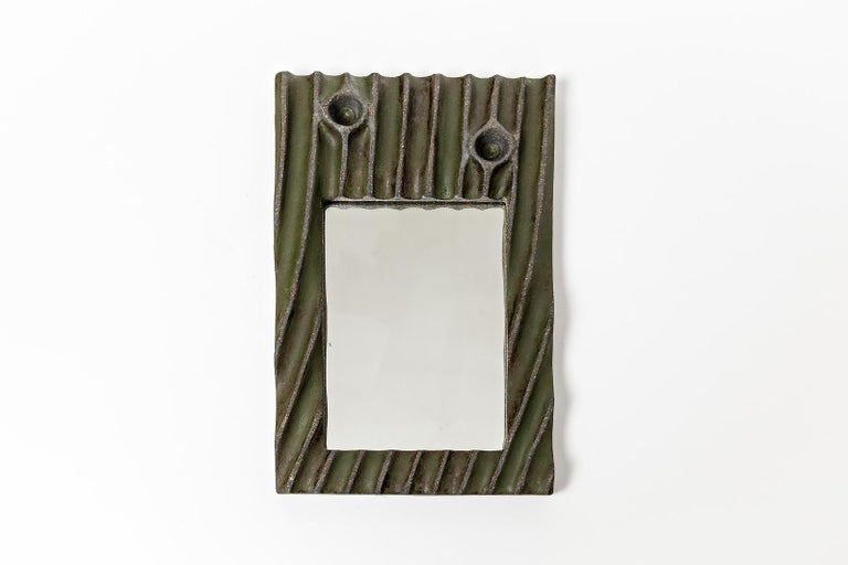 Contemporary Set of Five Ceramic Mirrors by Hervé Taquet, 2019 For Sale