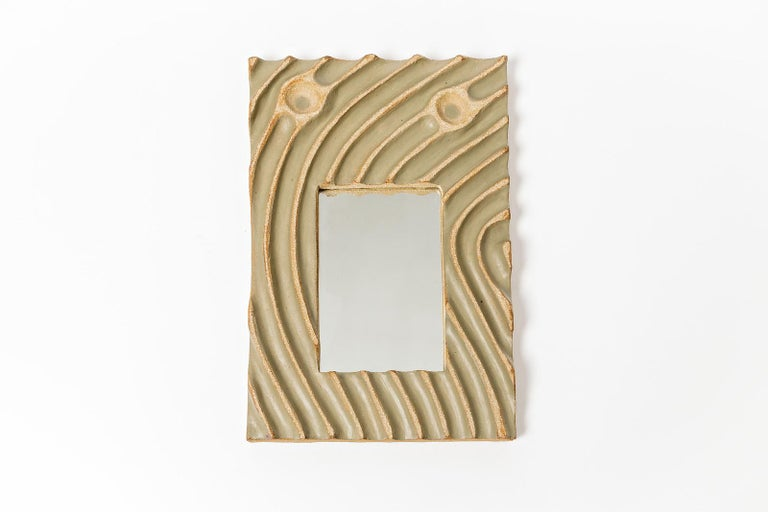 Set of Five Ceramic Mirrors by Hervé Taquet, 2019 For Sale 2