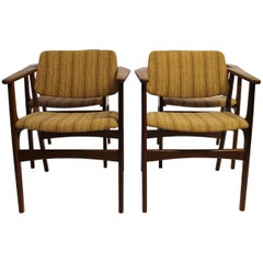 Set of Four Armchairs in Teak by Erik Buch, 1960s