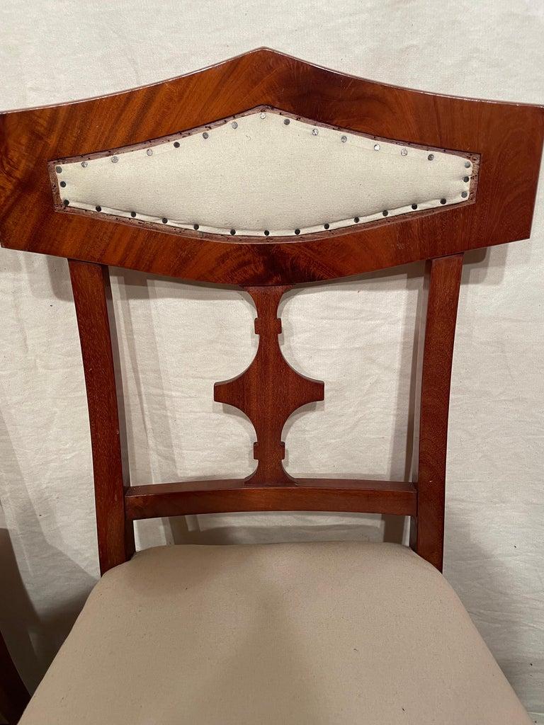 Veneer Set of Four Biedermeier Chairs, Northern Germany 1820 For Sale