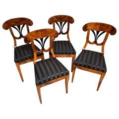 Set of Four Biedermeier Chairs, South Germany, 1820