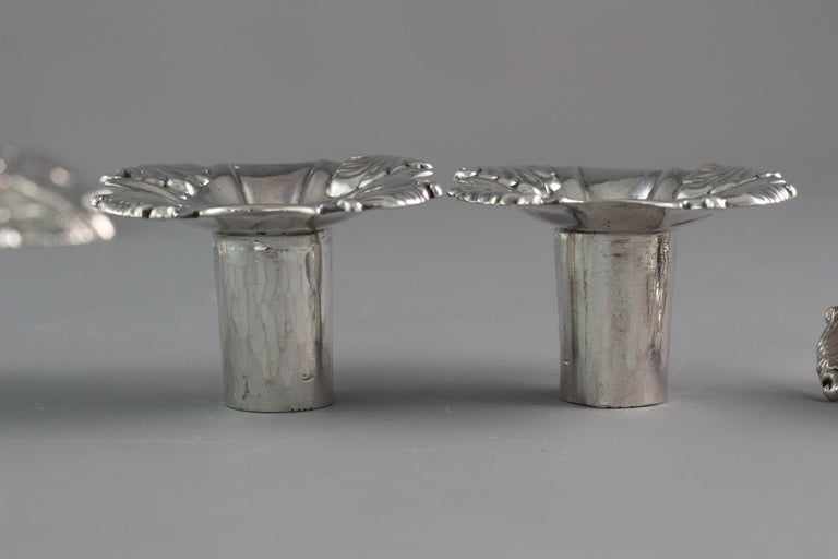 Set of Four Cast Silver Candlesticks, London, 1764-1765 For Sale 12