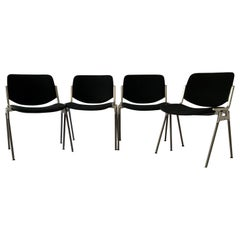 A set of four Castelli DSC 106 chairs, designed by Giancarlo Piretti, Italy, 199