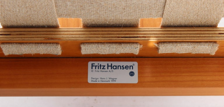 Set of Four China Chairs, Model 4283, by Hans J. Wegner and Fritz Hansen For Sale 4