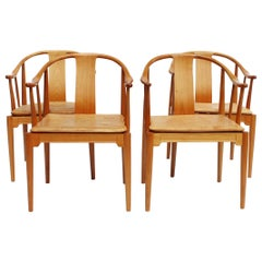 Set of Four China Chairs, Model 4283, by Hans J. Wegner and Fritz Hansen