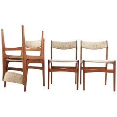 Set of Four Danish Erik Buch Teak Dining Chairs, Midcentury