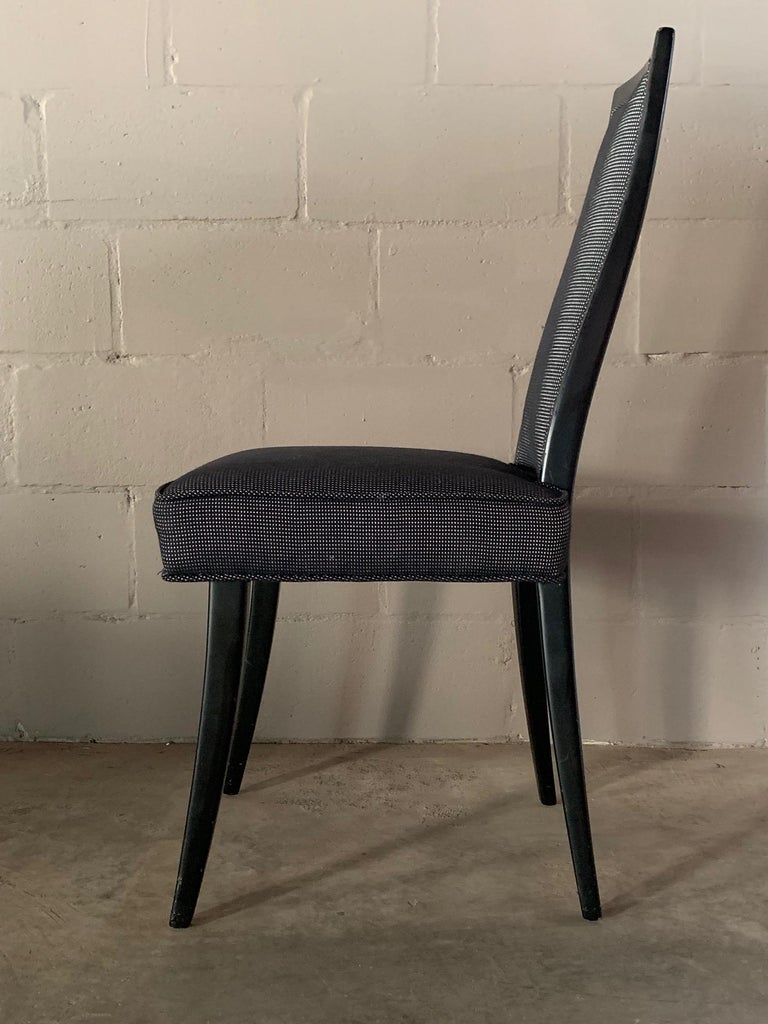 Mahogany Set of Four Elegant Dining Chairs by Harvey Probber For Sale