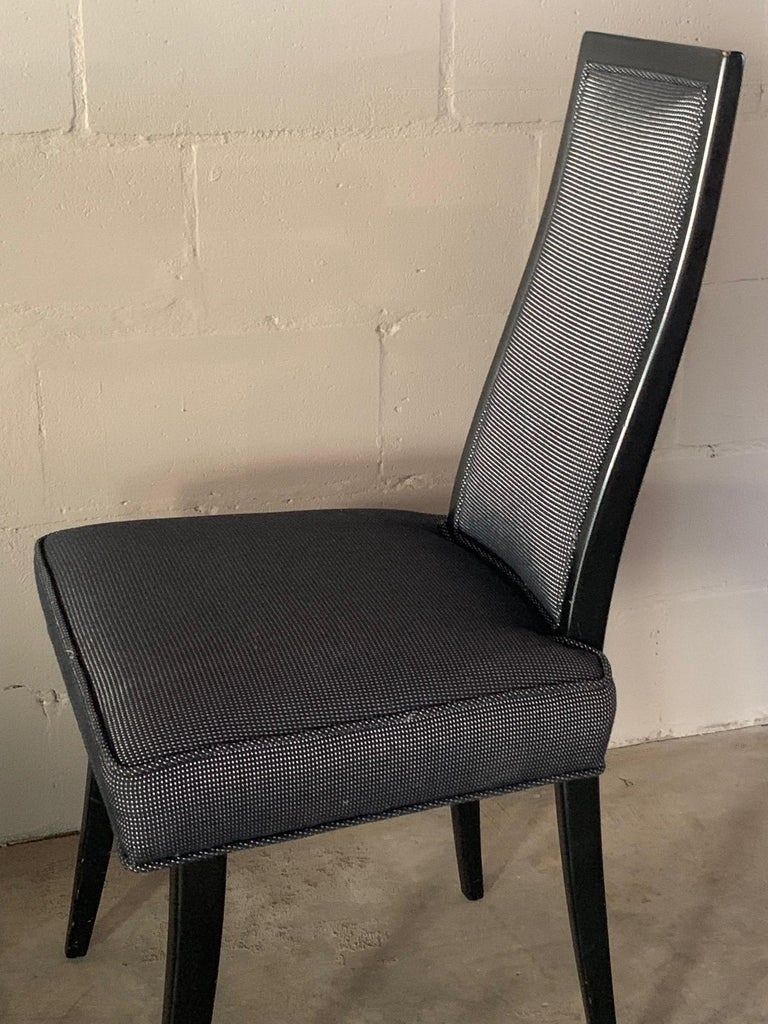 Set of Four Elegant Dining Chairs by Harvey Probber For Sale 1
